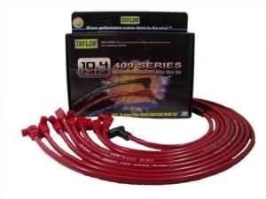 TAYLOR-VERTEX #79230 Race-Fit 409 Plug Wire Red SBC HEI Under Header