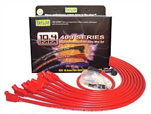 TAYLOR-VERTEX #79232 409 10.4mm Spiro-Pro Race Plug Wire Set - Red