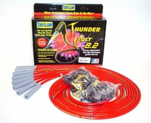 TAYLOR-VERTEX #83255 Univ Thundervolt Plug Wire Set 180 deg Red