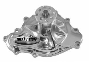 TUFF-STUFF #1475NA Pontiac Water Pump 11 Bolts Chrome