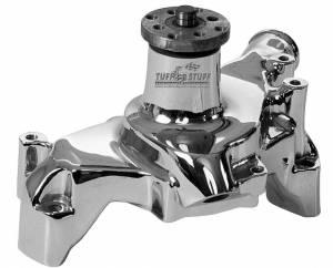 TUFF-STUFF #1511NA SBC Alum. Long Water Pump Chrome