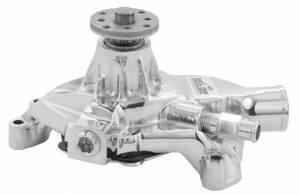 TUFF-STUFF #1534NA SBC Corvette Water Pump Chrome