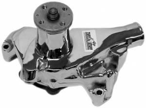 TUFF-STUFF #1675NA SBC Chrome Water Pump Rev Rotation
