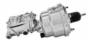 TUFF-STUFF #2122NA-2 7in Brake Booster Chrome w/2018NA Master Cylinder