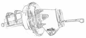 TUFF-STUFF #2131NBJ-2 9in Single Diaphragm Slim Line Booster Combo