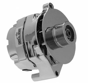 TUFF-STUFF #7068RD6G Ford Alternator Chrome 1 Wire 6 Groove Pulley