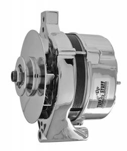 TUFF-STUFF #7078NB Ford Alt 70 Amp Chrome 1 Wire 1 Groove Pulley