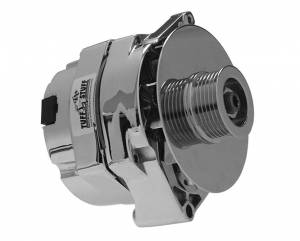 TUFF-STUFF #7127ND6G GM Alternator 100 Amp 1-Wire Chrome 6 Groove