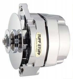 TUFF-STUFF #7127NK12 GM Alternator 140 amp 1- Wire Chrome 12 Clocking
