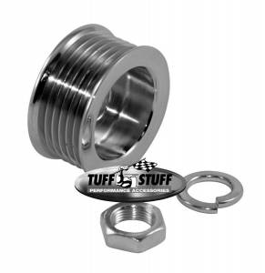 TUFF-STUFF #7610A Alternator Chrome Pulley 6 Groove