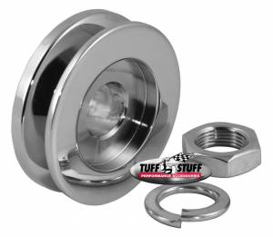 TUFF-STUFF #7610E Alternator Chrome Single V-Pulley
