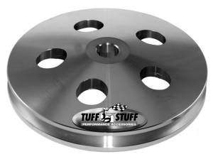TUFF-STUFF #8488C Power Steering Pulley Machined Aluminum