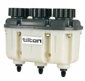 TILTON #72-577 Reservoir Plastic 3-Chamber AN-4 Fittings