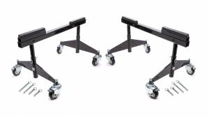 Ti22 PERFORMANCE #TIP5410 Rolling Chassis Stands Black
