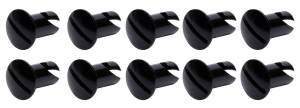 Ti22 PERFORMANCE #TIP8106 Oval Head Dzus Buttons .550 Long 10 Pack Black