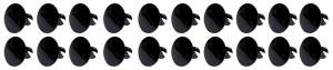 Ti22 PERFORMANCE #TIP8110 Large Head Dzus Buttons .500 Long 10 Pack Black