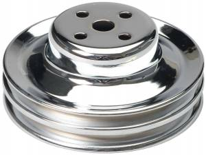 TRANS-DAPT #8301 65-66 Ford 289 Water Pump Pulley Chrome 2 Grv