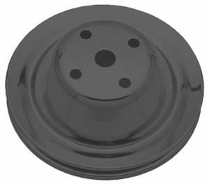 TRANS-DAPT #8604 SBC LWP Water Pump Pulley 1 Groove Black