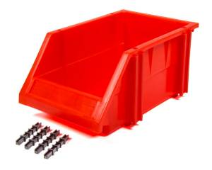 Plastic Storage Bin Red 10-1/4 x 6-1/4 x 4-3/4