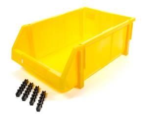 TRIPLE X RACE COMPONENTS #PA-PBIN-8134 Plastic Storage Bin YEL 17-3/4 x 11-1/2 x 6-3/4