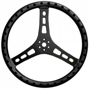 TRIPLE X RACE COMPONENTS #ST-0001BLK Steering Wheel 15in Dia 1-1/8in Tube Black