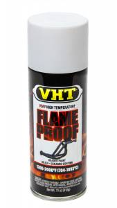 VHT #SP101 Flat White Hdr. Paint Flame Proof