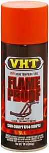 VHT #SP114 Flat Orange Hdr. Paint Flame Proof