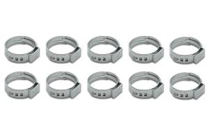 VIBRANT PERFORMANCE #12272 Stainless Steel Pinch Cl amps: 7.8-9.5mm 10 Pack