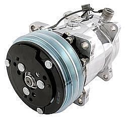 VINTAGE AIR #04808-VUA 508 Compressor 2GROOVE P ULLEY PLAIN FINISH