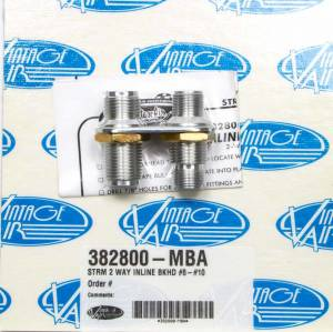 VINTAGE AIR #382800-MBA 2 Way In Line Bulkhead #8 and #10 O-Ring