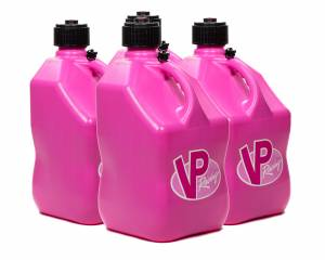VP FUEL CONTAINERS #3814 Utility Jug 5 Gal Pink Square (Case 4)