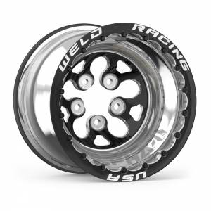 WELD RACING #83B-514278MBS 15x14 Blk Alpha-1 Wheel 5x4.750BP 4in BS Blk DBL