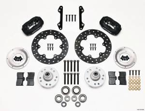 WILWOOD #140-1019-BD MD Drag Front Brake Kit GM Drilled Rotors