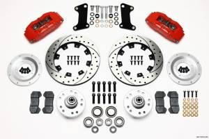 WILWOOD #140-10510-DR Front Disc Brake Kit Red 67-72 Camaro Nova 12.19