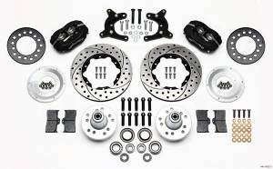 WILWOOD #140-11022-D HD Front Brake Kit 62-72 A Body Drum Spindle