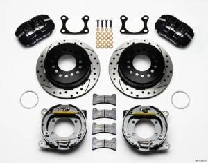 WILWOOD #140-11387-D Rear Disc Brake Kit Big Ford Drilled w/Park Brk