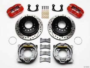 WILWOOD #140-11389-DR Rear Disc Brake Kit Big Ford Red Caliper Drilled
