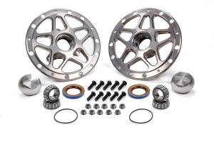 WINTERS #3980C Forged Alum Direct Mount Front Hub Kit Silver