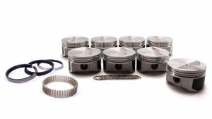 WISECO-PRO TRU #PTS510A4 SBC F/T Piston Set 4.165 Bore -7cc