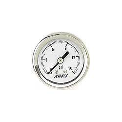 XRP-XTREME RACING PROD. #710000 0-15 Fuel Pressure Gauge Liquid Filled