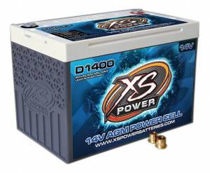 XS POWER BATTERY #D1400 AGM Battery 14v 2 Post