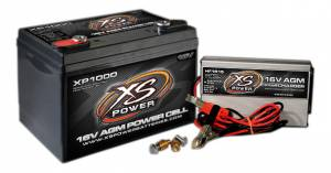 XS POWER BATTERY #XP1000CK1 AGM Battery 16v 2 Post & HF Charger Combo Kit