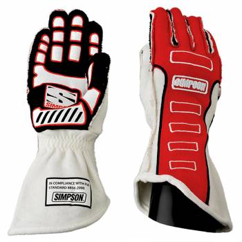 Competitor Glove Medium Red Outer Seam