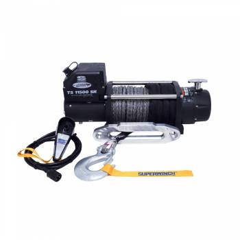 SUPERWINCH #1511201 Tiger Shark 11500SR Winch 11500lb Synthetic Rope
