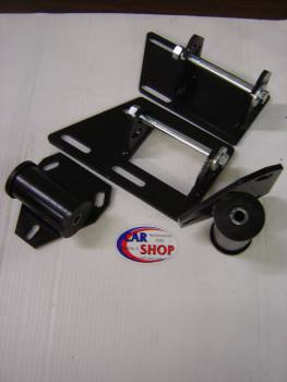CAR SHOP INC #2345-2375 S10 S15 Blazer Chevy Motor Mount Kit Block and Poly Frame Mounts Two Wheel Drive